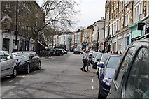 TQ2784 : Looking southwest along Regent's Park Road by Kate Jewell