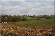 SK1342 : Rolling farmland above Knaveholm by Bill Boaden
