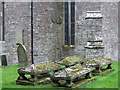 SO1823 : Gravestones at the Church of the Archangel Michael (2) by Trevor Littlewood