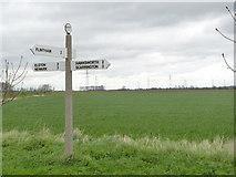 SK7645 : Fingerpost, Flintham Lane, Sibthorpe by Alan Murray-Rust