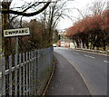 SS9596 : Cwmparc boundary sign, Treorchy by Jaggery