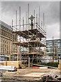 SJ8397 : Restoration Work, St Peter's Cross by David Dixon