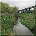 SK5447 : Bestwood: the River Leen at Mill Lane by John Sutton