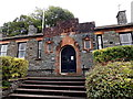 SD4097 : Steps up to the former Magistrates Court in Windermere by Jaggery
