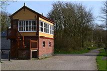SK1461 : Hartington signal box on the Tissington Trail by David Martin