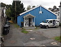 SD4097 : Blue corrugated metal building, Bowness-on-Windermere by Jaggery