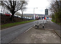 ST2896 : Traffic calming on Maendy Way opposite Colley Motors, Cwmbran by Jaggery
