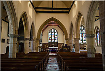 TQ4210 : Interior, St Thomas à Becket church, Cliffe, Lewes by Julian P Guffogg