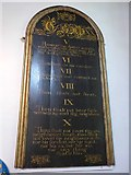 TQ9220 : St Mary, Rye:  The Ten Commandments (V to X) by Basher Eyre
