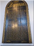 TQ9220 : St Mary, Rye:  The Ten Commandments (I to IV) by Basher Eyre