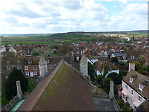 TQ9220 : St Mary Rye: view from the rooftop (vi) by Basher Eyre