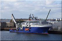 NJ9505 : Bibby Sapphire at Clipper Quay, Aberdeen harbour by Mike Pennington