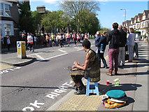 TQ4077 : London Marathon 2014: drummer by Stephen Craven