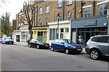 TQ2785 : Shops on South Hill Park, Belsize Park NW3 by Kate Jewell