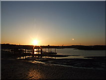 TQ7568 : Sunset on the River Medway, Chatham by Chris Whippet