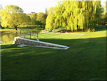 SU9850 : Seating area on Corbell's Lea near The Lake by Adrian Cable