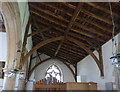 SK7641 : St Mary, Orston - north aisle roof by Alan Murray-Rust