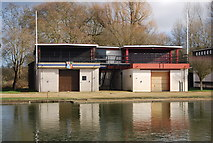 SP5105 : Pembroke College and St Edmunds Hall College Boathouse by N Chadwick