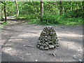 SD4879 : Cairn  at  footpaths  junction by Martin Dawes
