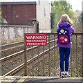 J3271 : Warning sign, Adelaide, Belfast by Rossographer