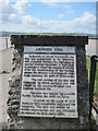 SD4578 : Plaque  on  Arnside  Pier by Martin Dawes