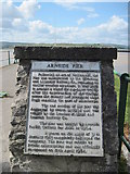 SD4578 : Plaque  on  Arnside  Pier by Martin Dawes
