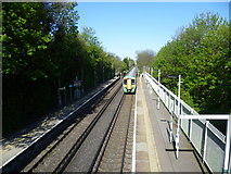TQ2262 : Ewell East station from the footbridge by Marathon