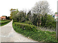 TM4288 : Wash Lane bridleway & entrance to Valley Farm by Adrian Cable