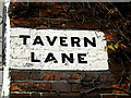 TM4290 : Tavern Lane sign by Adrian Cable