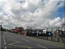 TF4382 : Withern village school entrance alongside the A157 by Steve  Fareham