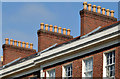 J3372 : Chimneys and chimney pots, University Square, Belfast by Albert Bridge