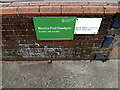 TM4190 : Beccles Pool Floodgate sign by Adrian Cable