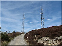J0524 : The service road approaching the Camlough Mountain Telecommunications Masts by Eric Jones
