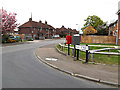 TM4389 : Banham Road, Banham Road Postbox & Dump Box by Adrian Cable