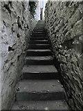 NZ2742 : Narrow steps, Durham by Paul Harrop