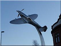 SD6922 : Spitfire WOW at dusk Darwen by Tom Howard