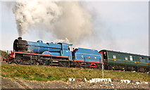 J4791 : Steam locomotive no 85, Whitehead - April 2014(2) by Albert Bridge