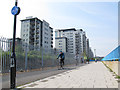 TQ4479 : New section of the Thames cycle path  by Stephen Craven