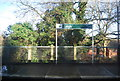 TQ5446 : Sign at Leigh Station by N Chadwick