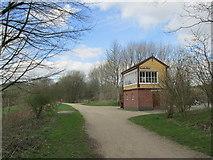 SK1461 : Hartington signal box. by steven ruffles