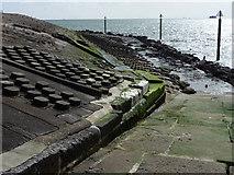 SZ6497 : Sea defences south of Southsea Castle by Chris Gunns
