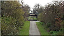 NZ3956 : Railway path, Mowbray Park, Sunderland by Malc McDonald