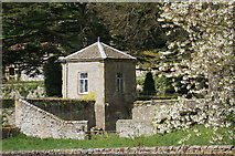 SK2169 : Summerhouse at Holme Hall with Attached Walled Enclosure by Peter Barr