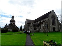 SO3958 : St Mary's church and bell tower, Pembridge by Bikeboy
