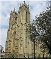 TA0339 : Beverley Minster, the twin west towers by Mike Kirby