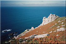 SS1244 : Lundy Battery Point by Martin Richard Phelan