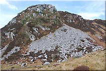 NM8503 : Scree slope on Dun Chonallaich by Patrick Mackie