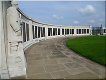 TQ7668 : Some of the names on the Chatham Naval Memorial by Marathon