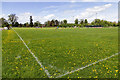 SP2255 : Rugby pitch at the Home Guard Club by David P Howard