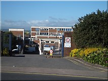SX9392 : Service road into the hospital, Polsloe Road, Exeter by David Smith